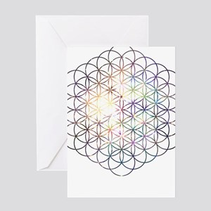 Flower of Life [Blue Star Cluster] Greeting Cards